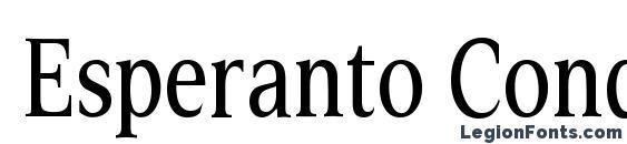 Esperanto Cond Font