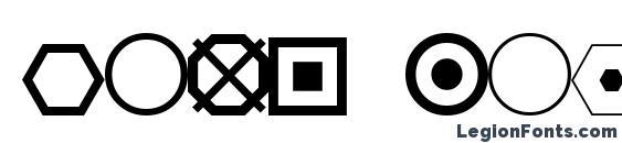 Шрифт ESRI Geometric Symbols