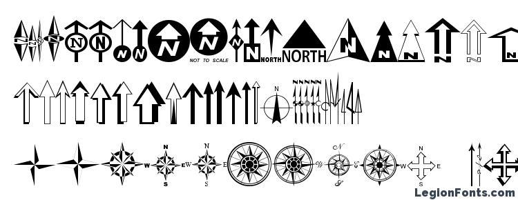 глифы шрифта ESRI North, символы шрифта ESRI North, символьная карта шрифта ESRI North, предварительный просмотр шрифта ESRI North, алфавит шрифта ESRI North, шрифт ESRI North