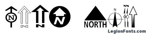 шрифт ESRI North, бесплатный шрифт ESRI North, предварительный просмотр шрифта ESRI North