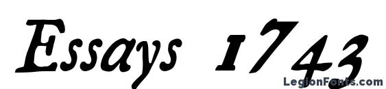 Шрифт Essays 1743 Italic