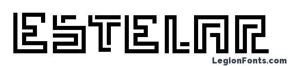 шрифт Estelar, бесплатный шрифт Estelar, предварительный просмотр шрифта Estelar