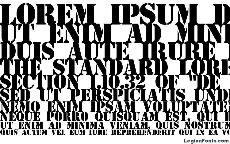 specimens Estensil font, sample Estensil font, an example of writing Estensil font, review Estensil font, preview Estensil font, Estensil font