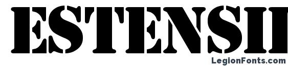 Estensil Font