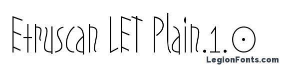 Etruscan LET Plain.1.0 Font