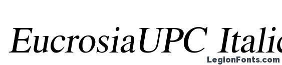 EucrosiaUPC Italic Font