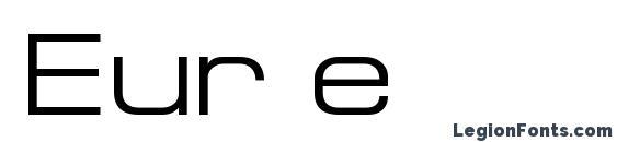 Шрифт Eur e