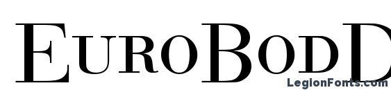 EuroBodDCDReg Font