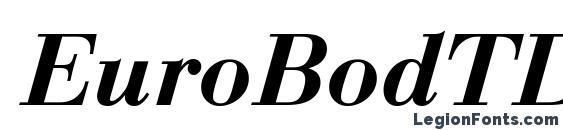 EuroBodTDemBol Italic Font