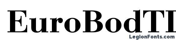 шрифт EuroBodTDemBol, бесплатный шрифт EuroBodTDemBol, предварительный просмотр шрифта EuroBodTDemBol