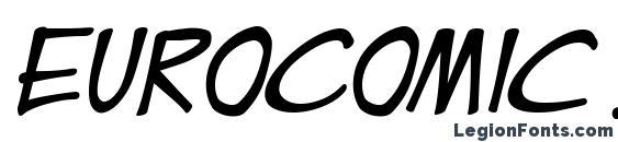 EuroComic Italic Font