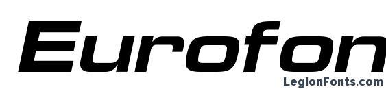 Шрифт Eurofontextendedc bolditalic