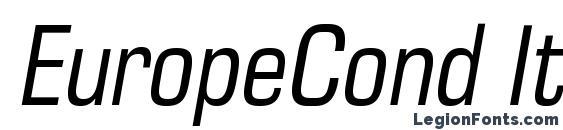 Шрифт EuropeCond Italic