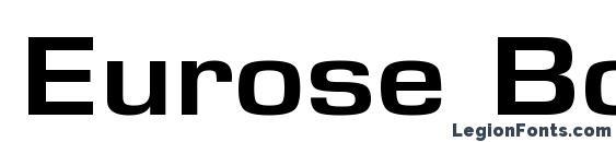 Eurose Bold Font