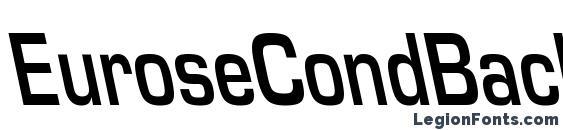 шрифт EuroseCondBackslant Regular, бесплатный шрифт EuroseCondBackslant Regular, предварительный просмотр шрифта EuroseCondBackslant Regular