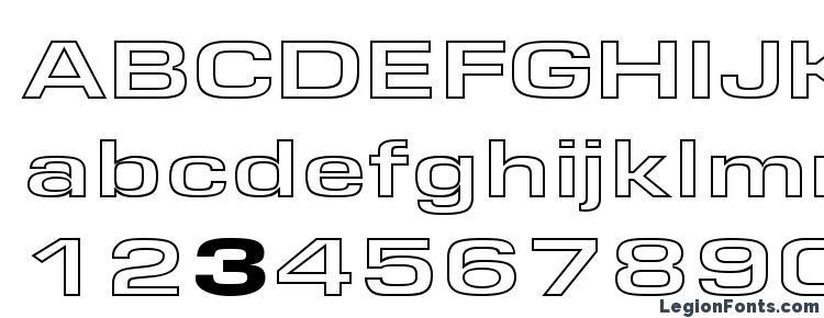glyphs EuroseWideHollow Regular font, сharacters EuroseWideHollow Regular font, symbols EuroseWideHollow Regular font, character map EuroseWideHollow Regular font, preview EuroseWideHollow Regular font, abc EuroseWideHollow Regular font, EuroseWideHollow Regular font