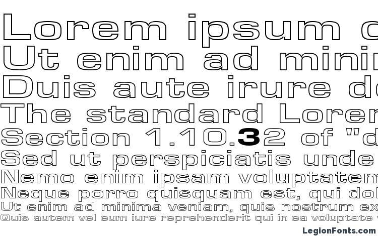 specimens EuroseWideHollow Regular font, sample EuroseWideHollow Regular font, an example of writing EuroseWideHollow Regular font, review EuroseWideHollow Regular font, preview EuroseWideHollow Regular font, EuroseWideHollow Regular font