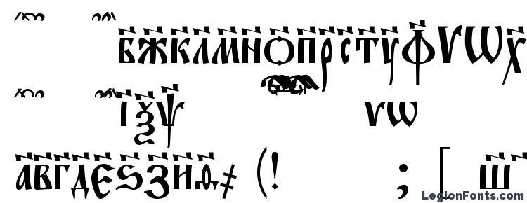 glyphs Evangeliec font, сharacters Evangeliec font, symbols Evangeliec font, character map Evangeliec font, preview Evangeliec font, abc Evangeliec font, Evangeliec font