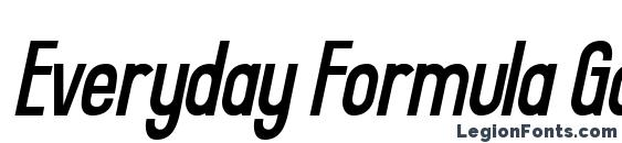 Everyday Formula Gaunt Sway Font