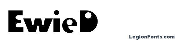 Шрифт EwieD
