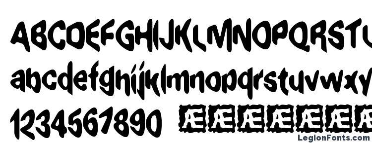 glyphs Exaggerate BRK font, сharacters Exaggerate BRK font, symbols Exaggerate BRK font, character map Exaggerate BRK font, preview Exaggerate BRK font, abc Exaggerate BRK font, Exaggerate BRK font