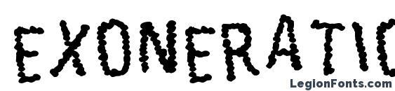 шрифт Exoneration, бесплатный шрифт Exoneration, предварительный просмотр шрифта Exoneration