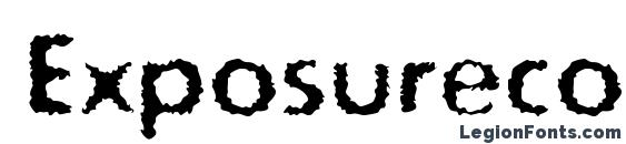 Exposureconerough Font