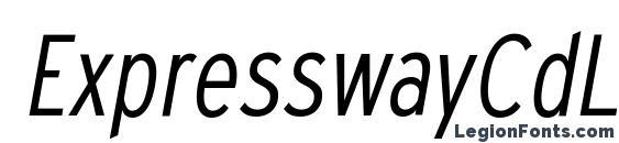 ExpresswayCdLt Italic Font