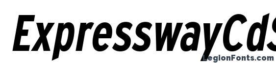 Шрифт ExpresswayCdSb Italic