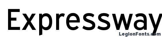 ExpresswayRg Regular Font