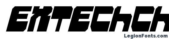 Шрифт Extechchop Condensed