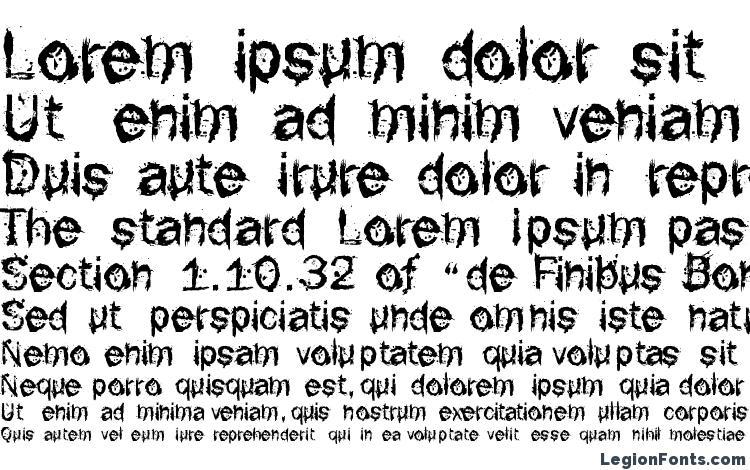 specimens F rotten font font, sample F rotten font font, an example of writing F rotten font font, review F rotten font font, preview F rotten font font, F rotten font font