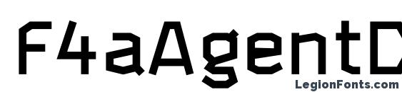 F4aAgentDemi font, free F4aAgentDemi font, preview F4aAgentDemi font