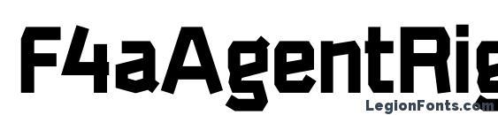 F4aAgentRigidBold Font