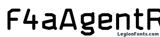 F4aAgentRoundedDemi Font
