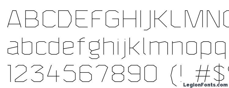 глифы шрифта F4aAgentThin, символы шрифта F4aAgentThin, символьная карта шрифта F4aAgentThin, предварительный просмотр шрифта F4aAgentThin, алфавит шрифта F4aAgentThin, шрифт F4aAgentThin