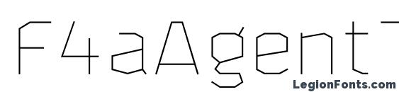 F4aAgentThin Font