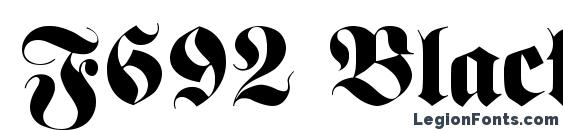 F692 Blackletter Regular Font, Medieval Fonts