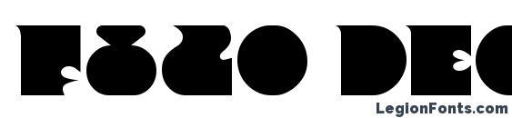 F820 Deco Bold Font