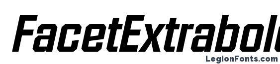 FacetExtrabold Italic Font