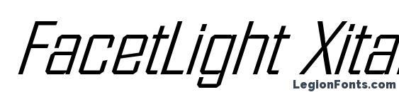 FacetLight Xitalic Regular Font