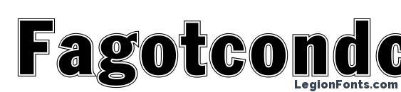 Fagotcondconturc font, free Fagotcondconturc font, preview Fagotcondconturc font