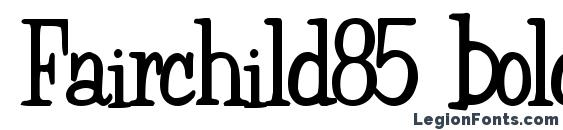 Fairchild85 bold Font