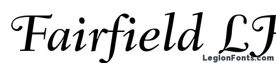 Fairfield LH 56 Swash Medium Italic Old Style Figures Font