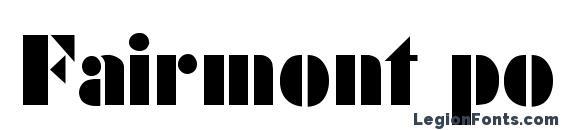 Fairmont poster light Font