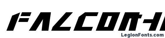 Falconhead Italic Font