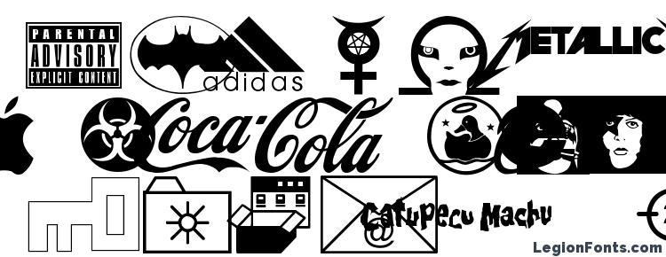 glyphs Famous Logos font, сharacters Famous Logos font, symbols Famous Logos font, character map Famous Logos font, preview Famous Logos font, abc Famous Logos font, Famous Logos font