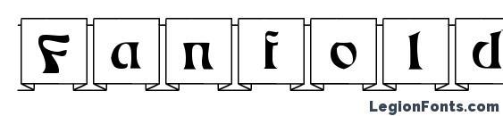 Шрифт Fanfold