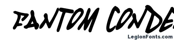 Шрифт Fantom Condensed Italic