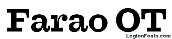 Farao OT Bold Font